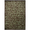"Nourison Expressions 9'6"" x 13'6"" Brown Rectangle Rug - Item Number: XP02 BRN 96X136"