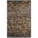 "Nourison Expressions 3'6"" x 5'6"" Multicolor Rectangle Rug - Item Number: XP02 MTC 36X56"