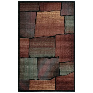 "Nourison Expressions 3'6"" x 5'6"" Multicolor Rectangle Rug"