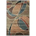"Nourison Expressions 3'6"" x 5'6"" Multicolor Rectangle Rug - Item Number: XP07 MTC 36X56"