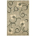 "Nourison Expressions 3'6"" x 5'6"" Ivory Rectangle Rug - Item Number: XP09 IV 36X56"