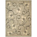 """Nourison Expressions 7'9"""" x 10'10"""" Ivory Rectangle Rug - Item Number: XP09 IV 79X1010"""