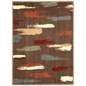 """Nourison Expressions 2' x 2'9"""" Chocolate Rectangle Rug - Item Number: XP10 CHO 2X29"""