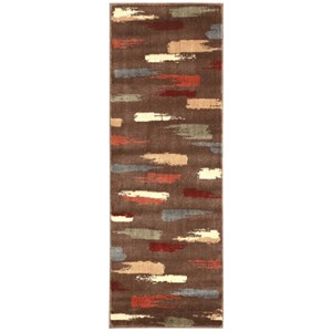 "Nourison Expressions 2' x 5'9"" Chocolate Runner Rug"