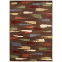 """Nourison Expressions 5'3"""" x 7'5"""" Chocolate Rectangle Rug - Item Number: XP10 CHO 53X75"""