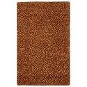 "Nourison Fantasia 3'6"" x 5'6"" Rust Rectangle Rug - Item Number: FAN1 RUS 36X56"