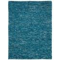 Nourison Fantasia 8' x 11' Turquoise Rectangle Rug - Item Number: FAN1 TUR 8X11