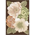 "Nourison Fantasy 3'6"" x 5'6"" Multicolor Area Rug - Item Number: 01772"