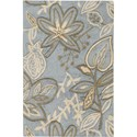 "Nourison Fantasy 1'9"" x 2'9"" Light Blue Area Rug - Item Number: 03122"