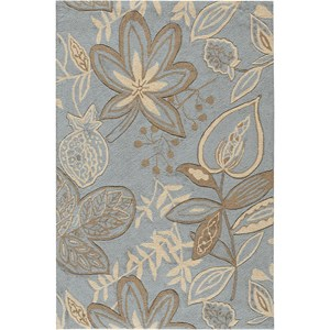 "Nourison Fantasy 2'6"" x 4' Light Blue Area Rug"