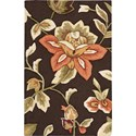 "Nourison Fantasy 1'9"" x 2'9"" Chocolate Area Rug - Item Number: 03250"
