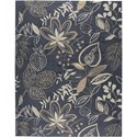 "Nourison Fantasy 2'6"" x 4' Smoke Area Rug - Item Number: 03766"