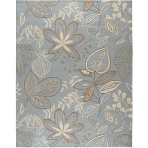 "Nourison Fantasy 8' x 10'6"" Light Blue Area Rug"