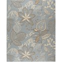 "Nourison Fantasy 8' x 10'6"" Light Blue Area Rug - Item Number: 03856"