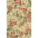 "Nourison Fantasy 3'6"" x 5'6"" Cream Area Rug - Item Number: 05591"