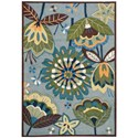 "Nourison Fantasy 2'6"" x 4' Aqua Rectangle Rug - Item Number: FA12 AQU 26X4"