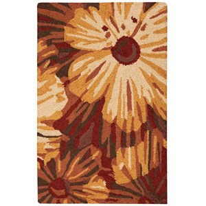 "Nourison Fantasy 1'9"" x 2'9"" Cayenne Rectangle Rug"