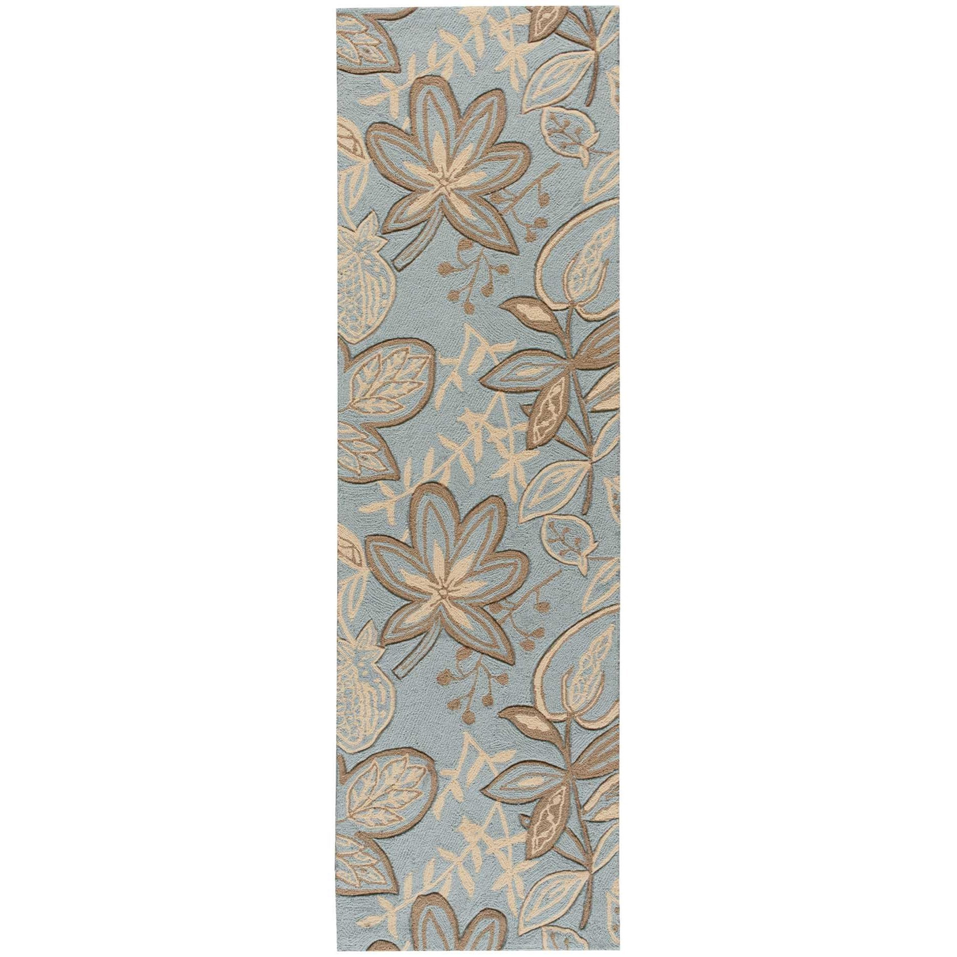 "2'3"" x 8' Light Blue Runner Rug"