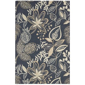"Nourison Fantasy 5' x 7'6"" Smoke Rectangle Rug"
