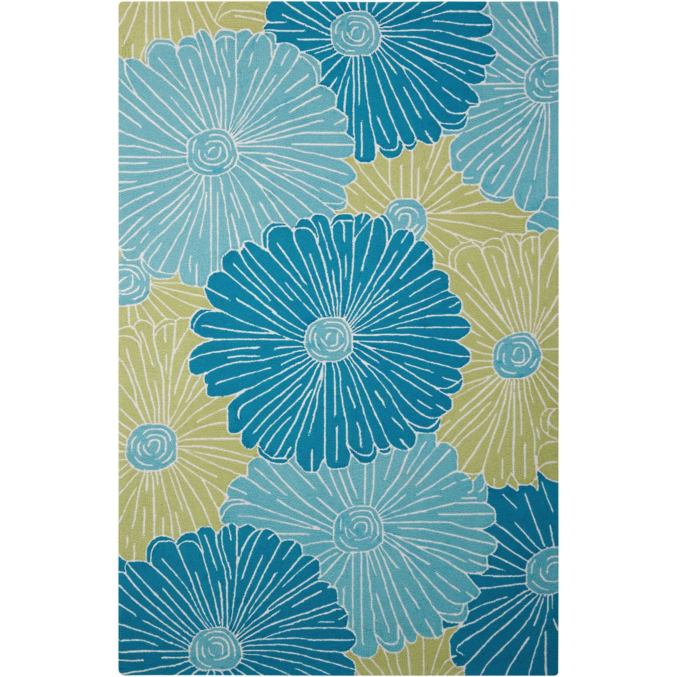 "3'6"" x 5'6"" Seafoam Rectangle Rug"