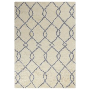 "Nourison Galway 7'6"" x 9'6"" Ivory Blue Rectangle Rug"
