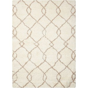 "Nourison Galway 7'6"" x 9'6"" Ivory/Tan Rectangle Rug"