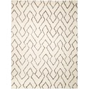 "Nourison Galway 7'6"" x 9'6"" Ivory/Chocolate Rectangle Rug - Item Number: GLW03 IVCHO 76X96"