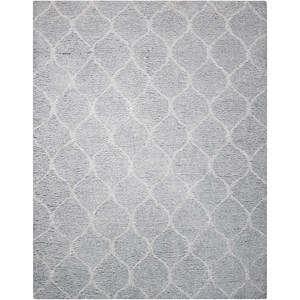 "Nourison Galway 7'6"" x 9'6"" Light Grey Rectangle Rug"