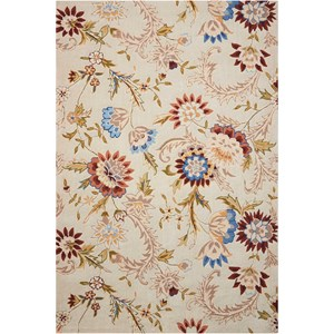 "Nourison Gatsby 3'9"" x 5'9"" Beige Rectangle Rug"
