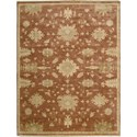 "Nourison Grand Estate 7'9"" x 9'9"" Persimmon Area Rug - Item Number: 07980"