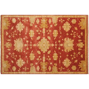 "Nourison Grand Estate 5'6"" x 8' Persimmon Area Rug"
