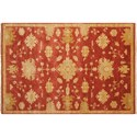"Nourison Grand Estate 5'6"" x 8' Persimmon Area Rug - Item Number: 08158"