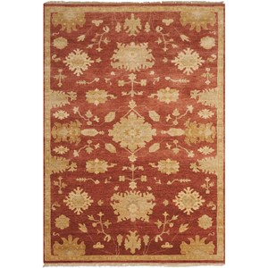 "Nourison Grand Estate 5'6"" x 8' Persimmon Rectangle Rug"