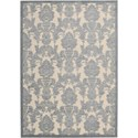 "Nourison Graphic Illusions 5'3"" x 7'5"" Ivory/Light Blue Area Rug - Item Number: 31246"