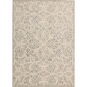 "Nourison Graphic Illusions 7'9"" x 10'10"" Beige Sand Area Rug"