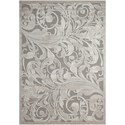"Nourison Graphic Illusions 3'6"" x 5'6"" Gry/Camel Rectangle Rug - Item Number: GIL01 GYCAM 36X56"