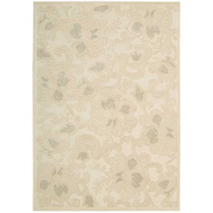 "Nourison Graphic Illusions 7'9"" x 10'10"" Cream Rectangle Rug"