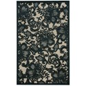 "Nourison Graphic Illusions 2'3"" x 3'9"" Pewter Rectangle Rug - Item Number: GIL02 PEWTR 23X39"