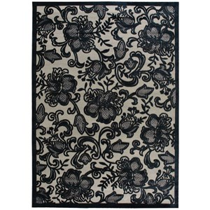 "Nourison Graphic Illusions 7'9"" x 10'10"" Pewter Rectangle Rug"