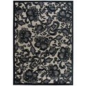 """Nourison Graphic Illusions 7'9"""" x 10'10"""" Pewter Rectangle Rug - Item Number: GIL02 PEWTR 79X1010"""
