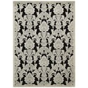 """Nourison Graphic Illusions 2'3"""" x 3'9"""" Black Rectangle Rug - Item Number: GIL03 BLK 23X39"""