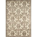 "Nourison Graphic Illusions 5'3"" x 7'5"" Ivory/Latte Rectangle Rug - Item Number: GIL03 IVLAT 53X75"