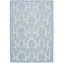 "Nourison Graphic Illusions 3'6"" x 5'6"" Iv/Ltb Rectangle Rug - Item Number: GIL03 IVLTB 36X56"