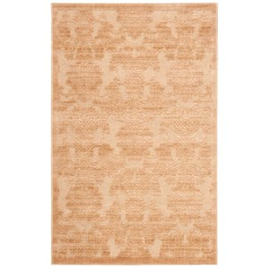 "3'6"" x 5'6"" Light Gold Rectangle Rug"
