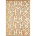 "Nourison Graphic Illusions 5'3"" x 7'5"" Light Gold Rectangle Rug - Item Number: GIL03 LGD 53X75"