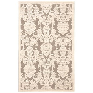 "Nourison Graphic Illusions 3'6"" x 5'6"" Nickel Rectangle Rug"
