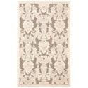 "Nourison Graphic Illusions 3'6"" x 5'6"" Nickel Rectangle Rug - Item Number: GIL03 NICKL 36X56"
