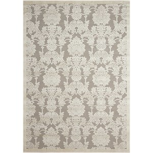 "Nourison Graphic Illusions 5'3"" x 7'5"" Nickel Rectangle Rug"