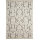 "Nourison Graphic Illusions 5'3"" x 7'5"" Nickel Rectangle Rug - Item Number: GIL03 NICKL 53X75"
