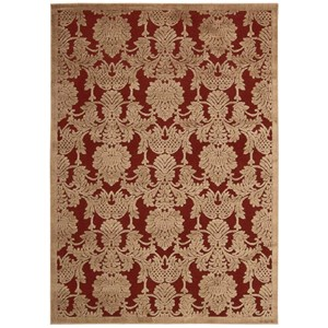 "Nourison Graphic Illusions 2'3"" x 3'9"" Red Rectangle Rug"